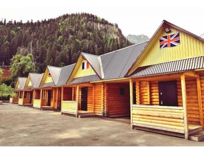 Гостиница «Фотон» | внешний вид, территория, Альпийские домики